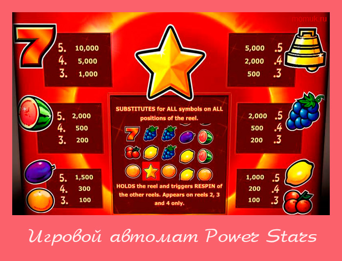 Slot power stars